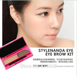 $enCountryForm.capitalKeyWord Canada - Korea 3CE Double Colors 3 Assemble Eye Brown Powder Water-proof Sweat-proof Long-Lasting Natural Styling Cosmetic Makeup Tools