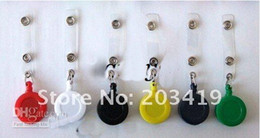 RetRactable key caRd clip online shopping - 18 OFF SALE Pieces retail ID holder name tag card key Badge Reels Round Solid Plastic Clip On Retractable pul