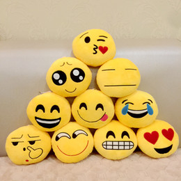 Video games for small kids online shopping - New Key Chains cm Emoji Smiley Small pendant Emotion Yellow QQ Expression Stuffed Plush doll toy for Mobile bag pendant
