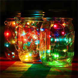 solar light string mason jar bottlenot including 1m 2m warm white colourful copper string outdoor garden yard party decoration - Christmas Walkway Lights