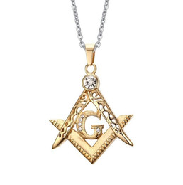 $enCountryForm.capitalKeyWord Canada - Classical Style Stainless Steel 18k Gold Plated Vintage Masonic Pendants Necklace New Fashion Mens Punk Rock Jewellery