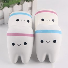 $enCountryForm.capitalKeyWord Canada - Novelty Squishy Tooth Slow Rising Kawaii 10cm Soft Squeeze Cute Cell Phone Strap Toy Gift Stress Squishy Teeth Toys For Kids