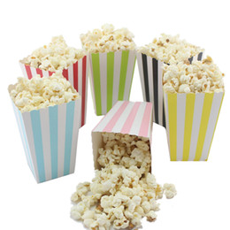 Movie box candy online shopping - Mini Party Paper Popcorn Boxes Candy Sanck Favor Bags Wedding Birthday Movie Party Supplies Colors