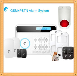 Sms Alarm Detector Canada - Free Shipping DHL, Excellent nice design home alarm APP&SMS control alarm security system supported 50 wireless detectors