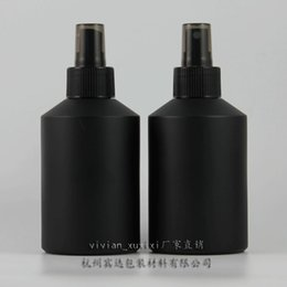 Black Frosted Cosmetic Bottles Wholesale Canada - 200ml black frosted Glass lotion bottle with black plastic pump,cosmetic packing,cosmetic bottle,packing for liquid