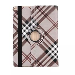 leather housing UK - Fashion 4 colors High quality Grid housing book 360 degree rotating leather stand case for Apple ipad pro 12.9 inch case cover