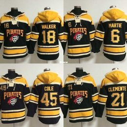 379105b2e0a ... Wholesale Pittsburgh Pirates Hoodies 18 Neil Walker 45 Gerrit Cole 6  Starling Marte 21 Roberto Clemente ...