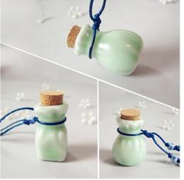 $enCountryForm.capitalKeyWord NZ - Ceramic Wishing bottle oil bottle pendant necklace pendant female long sweater chain Valentine's Day gift
