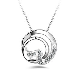 Free Shipping Fashion High Quality 925 Silver Gardenia With Diamond Jewelry  925 Silver Necklace Valentineu0027s Day Holiday Gifts Hot 1708