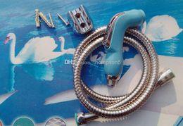 $enCountryForm.capitalKeyWord Canada - 50sets Wholesale Bathroom Handheld Bidet Shattaf Sprayer Toilet Portable Cleaning Diaper Shower Head+1m braided hose+wall holder TS078L-SET