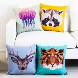 f8e833c69af8 Ocean Pillow Case Canada - 12 styles Ocean Shark Elephant Bear Custom  Cushion Covers Deer Cat