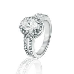Alloy Ring Zircon Canada - gemstone ring Rose Gold Plated Zircon Ring Gemstone Jewelry Crystal Zircon Ring Jewelry For Women mens jewelry rings mystic topaz size 9