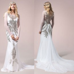 Emejing Silver Wedding Dresses With Sleeves Photos - Styles & Ideas ...