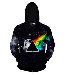 China Wholesale-PINK FLOYD Zip-Up Hoodies e Fashion Clothing Winter Style Sweatshirts Galaxy Space Star Sweats Sport Hoody Jumper Tops cheap star hoodie jumper suppliers