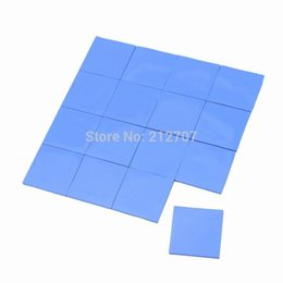 Chinese  Wholesale- 32PCS 25 x 25 x 1mm Blue Thermal Pad Conductive Chipset Silicone Paste manufacturers
