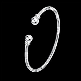 Discount factory price jewelry - 6 style 925 Sterling silver plated matte bangles fashion party jewelry for women Top Quality Factory price free shipping
