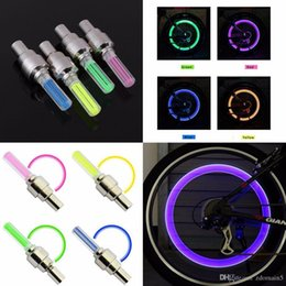 lit pack Australia - 1 Pair Outdoor Bicycle Bike LED Neon Tire Wheel Gas Nozzle Valve Core Glow Stick Light For Driving Bicycle Accessories packing