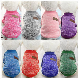 Wholesale dhl cotton jacket for sale - Group buy DHL Classic Warm Pet Dog Clothes Puppy Outfit Pet Jacket Coat Winter Clothes Soft Sweater Clothing For Small Dogs Chihuahua XS XL