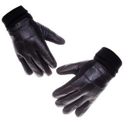 $enCountryForm.capitalKeyWord Canada - Wholesale-Sales Genuine Leather Gloves Men Women Real Sheepskin Gloves Winter Glove Knit Wrist Fleece Lining High Quality Low Pr1-yp