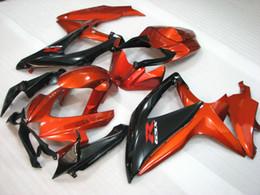 Kit de carenagem laranja queimado para suzuki GSXR 600 750 carenagem 2008 2009 K8 GSXR600 GSXR750 08 09 10