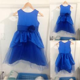Blue Shirt For Wedding Australia - New Actual Flower Girl Dresses Blue Wedding Party Pageant Communion Dress for Little Girls Kids Children Dress for Wedding