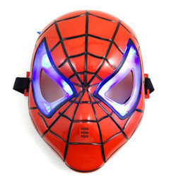 $enCountryForm.capitalKeyWord UK - Halloween supplies Christmas party Mask children cartoon mask Spider man toy LED light Spider Man Mask