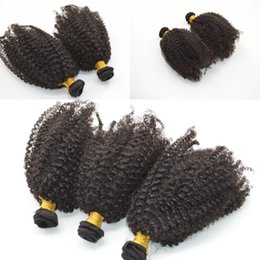 Discount new hair weave - Cheap new coming! mongolian virgin hair afro kinky curly fast shipping 4c hair weft No acid G-EASY