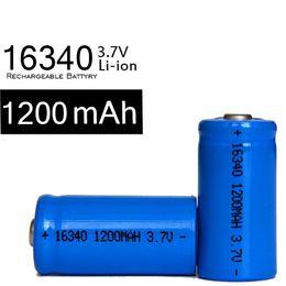 Großhandel Freies Verschiffen 10pcs / lot, Ultrafire Blau 3.7V 1200mAh, 16340 erreichbare Li-Ionen-Batterie, 16340 Bateria