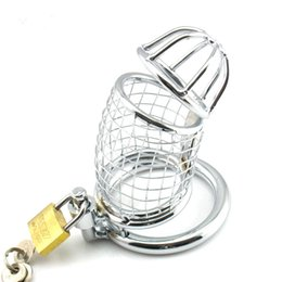 $enCountryForm.capitalKeyWord Canada - Male chastity device Adult Cock cage Stainless Steel bdsm chastity adult sex toys bondage fetish sex toys,sex products for men sale