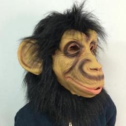 Monkey Halloween Costumes Canada - New design monkey mask full head latex mask Cosplay animal costume halloween party mask free shipping