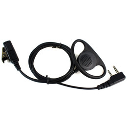 $enCountryForm.capitalKeyWord Canada - Wholesale-New Black 2 Pin PTT MIC Earpiece Headset for KENWOOD Radio PUXING QUANSHENG TYT HYT BAOFENG UV5R 888S Retevis C1048A