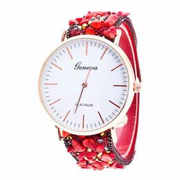 Thin Belt Watches Canada - Popular Geneva Rhinestones Stone Watches Thin Velvet Belt Buckle Watch Luxury Women Alloy Ladies Watches Brand Wristwatch Quartz Watch