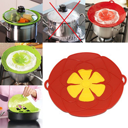 Boiling pan online shopping - Flower Petal Boil Spill Stopper Silicone Lid Pot Lid Cover Cooking Pot Lids Utensil Pan Cookware Parts Kitchen Accessories WX9