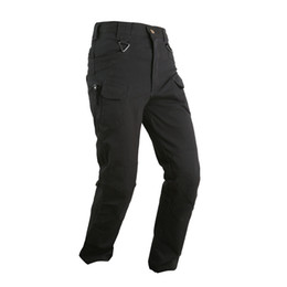 Wholesale black swat pants resale online – men s outdoor consul pants IX7 SWAT tactical quick drying pants overalls pants