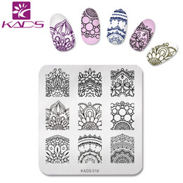 Barato Projeto Diy Da Flor Do Prego-Atacado- KADS 2016 Pretty Charming Flowers Design Nail Stamping Print Plates Nail Art Template DIY Beauty Nail Stencil Manicure Tools