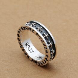 b5580c7f5dea Marca de lujo nuevo 925 plata esterlina joyería fina vintage estilo europeo  europeo plata antigua cruces hechos a mano diseñador anillo de los hombres  ...