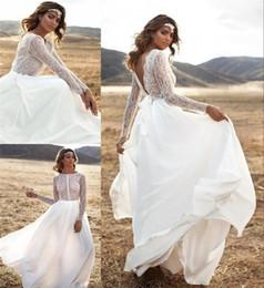 Discount Low Back Bohemian Wedding Dresses 2017 Low Back