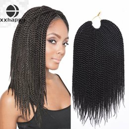 Discount happy hair braiding 2018 happy hair braiding on sale at xx happy hair crotchet box braids hair extensions 6piece 18inch 30strands 75g pc kanekalon synthetic hair senegalese twist crochet braids pmusecretfo Gallery