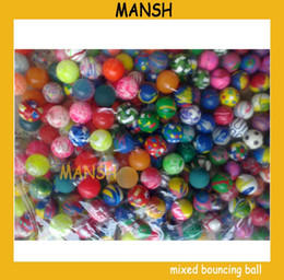 bouncing ball for kids Canada - 27mm mixed rubber bouncing ball skip ball for kids toys ball 100pcs lot Free Shipping