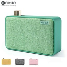 online shopping EMIE mini Portable Speaker Bluetooth Canvas AUX Wireless Powerful Sound Minimalist Retro Gift for Outdoor travel with phone