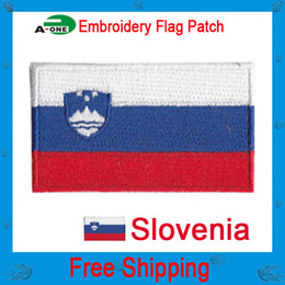 $enCountryForm.capitalKeyWord Canada - slovenia flag patch Cheap Wholesale High quality Flag patch Clothing accessories Embroidery Applique Decoration Accessories good quality