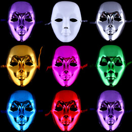 Gold Full Face Mask NZ - Masquerade Party Color PVC Mask Full Face Halloween Venetian Horror Mask Promotion Cosplay Performance Dancing Costume Accessories 20pcs lot