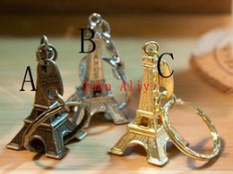$enCountryForm.capitalKeyWord Canada - Wholesale 500 pcs Eiffel Tower Keychain For Keys Souvenirs, Paris Tour Eiffel Keychain Key Chain Key Ring Decoration Key Holder