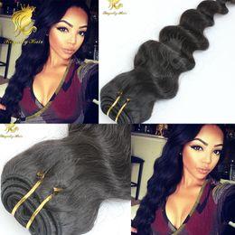 Peruvian Hair 28inches NZ - Unprocessed Brazilian Hair Loose 3 Pcs lot Loose Wave human Hair 10-28inches Human Hair Weave Bundles