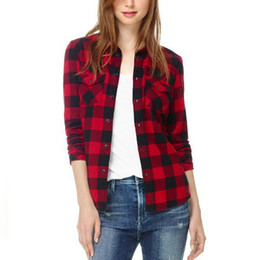 Red Checked Shirt Womens Online | Red Checked Shirt Womens for Sale
