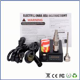 Enail Bongs Canada - In stock E Nail Kit Digital Electronic DNail Glass Bong Water Titanium Nails with carb cap VS g9 h enail h e nail