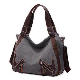$enCountryForm.capitalKeyWord Canada - Hot Casual Canva Women Bags Leather Shoulder Bag Designer Ladies Hand Bag Tote Sac A Main High Quality Women Handbag