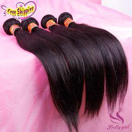 Brazilian Virgin Human Hair Bundle 5pcs Canada - Cheap Peruvian Indian Malaysian Cambodian Brazilian Straight Virgin Remy Human Hair Weaves Extensions Bundles Natural Color Dyeable 3 4 5Pcs