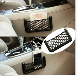 $enCountryForm.capitalKeyWord Canada - 15*8 cm Car Storage Mesh Net Resilient String Phone Bag Holder Organizer For Hyundai Kia Audi Ford universal car phone holder