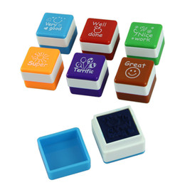 Teachers sTamps online shopping - New Teachers Stampers Self Inking Praise Reward Stamps Motivation Sticker School Colorful Cartoon Stamps